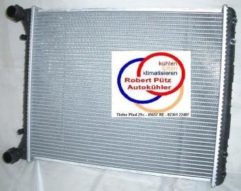 KÜHLER, Wasserkühler, Audi A2, 1,2L, 1,4 L, 1,6,  Schaltgetriebe, mit Klimaanlage