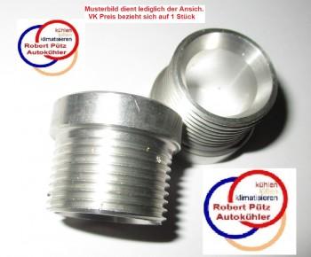 Aluminium Schweißgewinde in M22*1,5 (metrisch 22mm mit 1,5 mm Steigung)