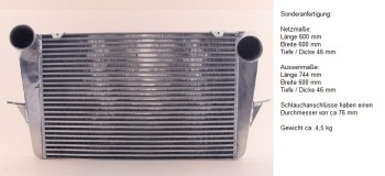 Ladeluftkühler / Turbokühler Sonderanfertigung 600*600