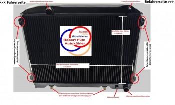 Mercedes, W113, 250 -280 SL, Pagode, Automatik, Wasserkühler HL Netzerneuerung, Kühler Überholung des Altkühlers