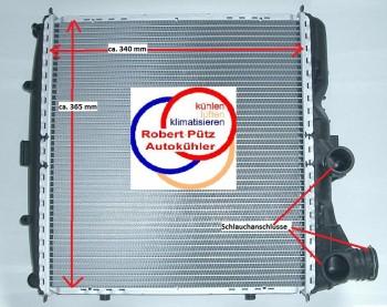 Kühler Wasserkühler links, Porsche, 911 (997), Cayman (987),  Boxster (987)