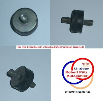 Silentblock, Schwingmetall, Gummipuffer, Gummipufferblock - M6 Gewinde
