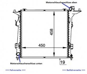 KÜHLER, Wasserkühler, Kia, Ceed / Cee`d auch Hyundai. 2,0 CRDi  i30,  Schalter