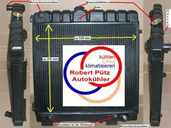 Kühler verstärkt, HL Wasserkühler Mercedes G Klasse W460, W461