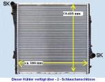 KÜHLER (VS) Wasserkühler BMW X3 / E83, 2.0 & 2,5 & 3,0L, Benziner & Diesel