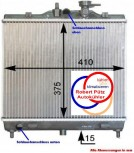 Kühler, Wasserkühler, KIA Picanto, BA, Schalter, 1,1 L ab 04.04