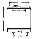 KÜHLER, Wasserkühler, OPEL AGILA (H00), 1,0 & 1,2L, ab. 08.03