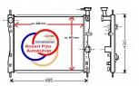 KÜHLER, Wasserkühler, Smart ForFour, 1,1 L, 1,3 L, 1,5 L, ab Bj