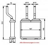 Heizungskühler, Wärmetauscher OPEL, Frontera B & & Combo & Corsa