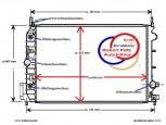 KÜHLER Wasserkühler OPEL Signum, Opel Vectra C, Autmatik , 1,9