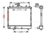 KÜHLER, Wasserkühler, OPEL AGILA (H00), 1,0 & 1,2L ab. 09.00-