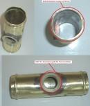 Adapterflansch 38mm mit M22*1,5 Gewinde