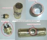 Adapterflansch 32mm mit M22*1,5 Gewinde und Thermoschalter