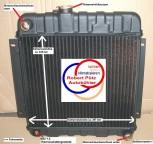 Kühler mit Thermoschaltergewinde M22*1,5 - Wasserkühler, BMW 02, E10, 1502, 1602, 1802, 2002