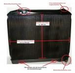 Mercedes, W113, 230 SL, 250 SL, 280 SL, Pagode, Schaltgetriebe, Wasserkühler HL Netzerneuerung, Kühler Überholung des Altkühlers