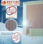 Kühlernetzanfertigung 350*435*32 aus Kupfer / Messing